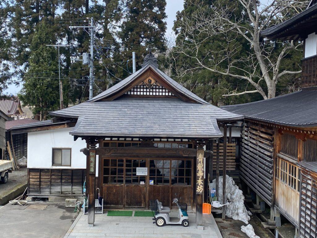 屋根ペンキ塗装施工前1【青森市S寺院様】