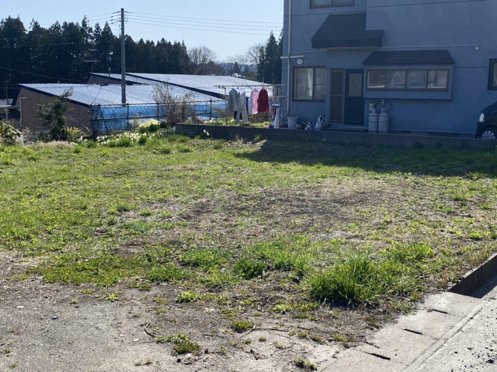 青森市内の解体家屋:解体後敷地②