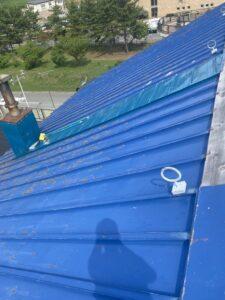 屋根ペンキ塗装-掃除洗浄1