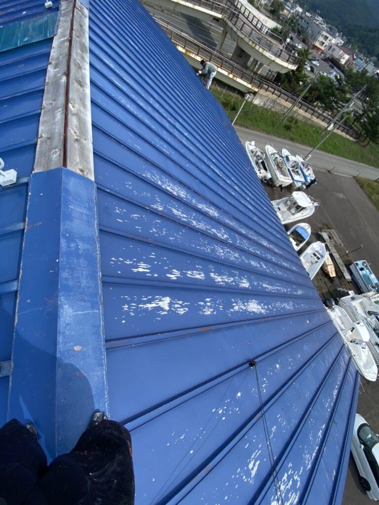 屋根ペンキ塗装-掃除洗浄2