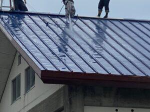 屋根ペンキ塗装-掃除洗浄7